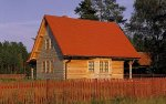 dom - drewno